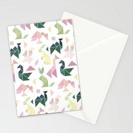 Pastel Tangrams Pattern Stationery Cards