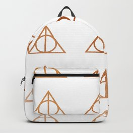 Copper Deathly Hallows design Backpack