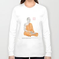 buddha Long Sleeve T-shirts featuring Buddha by Bryan James
