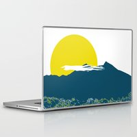 indonesia Laptop & iPad Skins featuring Mount Batur by nicholas ellinas