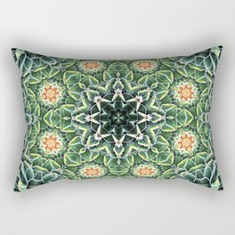 Succulent Splendor Two Rectangular Pillow