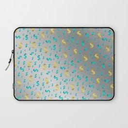 gold,blue silver metal dollar Laptop Sleeve