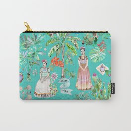 Frida Kahlo Botanics - Emerald Green Carry-All Pouch