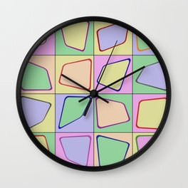 Retro Pastel Mix Wall Clock