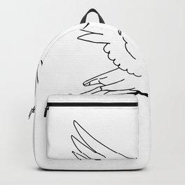 Stork Delivering Money Bag Drawing Backpack