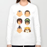 zuko Long Sleeve T-shirts featuring Team Avatar by Adrian Mentus