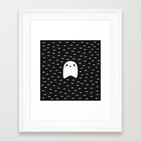 ghost Framed Art Prints featuring Ghost by Elisabeth Fredriksson