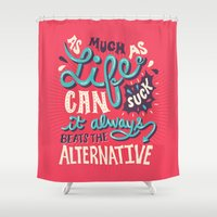 paper towns Shower Curtains featuring Paper Towns: It Beats The Alternative by Risa Rodil
