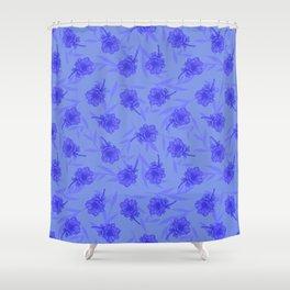 Anemone Field Blue Shower Curtain