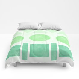 Green Shapes Comforters