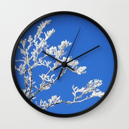 Frosted Branches Wall Clock