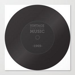 Vintage Rock'n'Roll Music 1969 Canvas Print