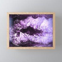 Amethyst Crystal Cave Framed Mini Art Print