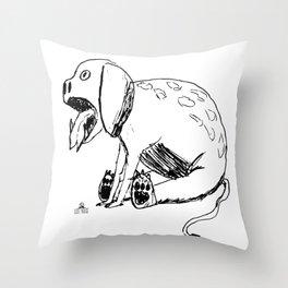 DOODLE DINO BARF DOG Throw Pillow
