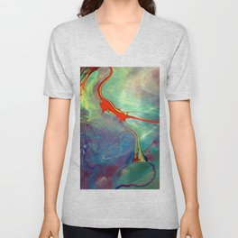 abstract 33 Unisex V-Neck