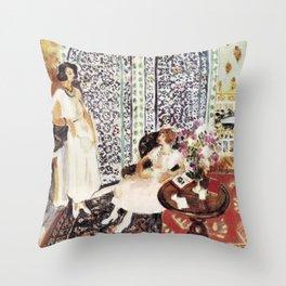 Henri Matisse - Moorish Screen - Exhibition Poster Throw Pillow