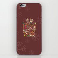 gift card iPhone & iPod Skins featuring Christmas Gift 01 by BlueLela