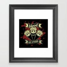Blood & Ice Cream - Variant Framed Art Print