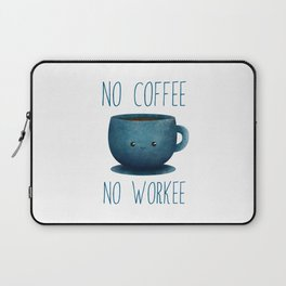 no coffee, no workee /Agat/  Laptop Sleeve