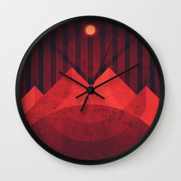 Amalthea - The Sulfur Sands Wall Clock
