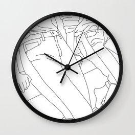 Fashion illustration line drawing - Calan Wall Clock
