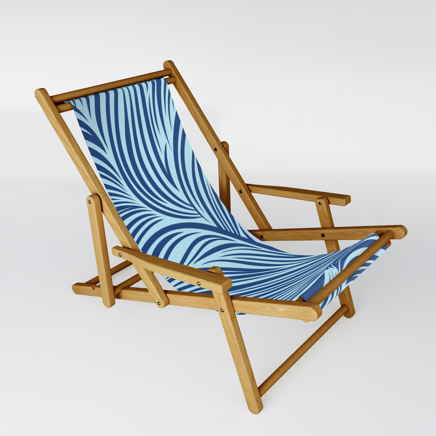 Floating Lines Blue Sling Chair By Pcmdesigner