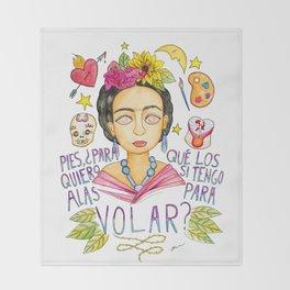 Fearless Women: Frida Throw Blanket