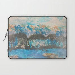 Abstract Mountains by the Sea Laptop Sleeve