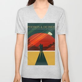 Phobos Deimos Unisex V-Neck