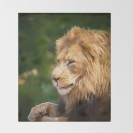 King Of The Jungle (digital Painting) Throw Blanket