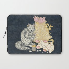 Big Bad Wolf Only Needed a Needle Laptop Sleeve