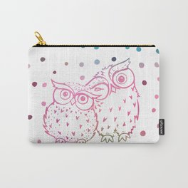 Owls - pink and blue Carry-All Pouch
