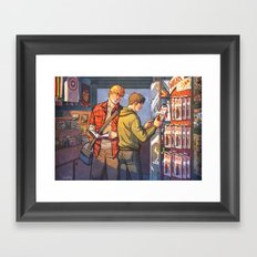 William and Theodore 23 Framed Art Print