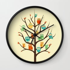 Owl Are Welcome Wall Clock