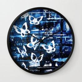 Winter Butterfly Wall Clock
