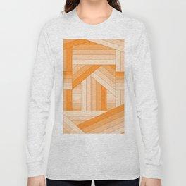 Orange Stripes Long Sleeve T-shirt