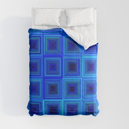 6x6 005 - abstract neon blue pattern Comforters