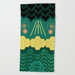 Rainforest HARMONY pattern Beach Towel