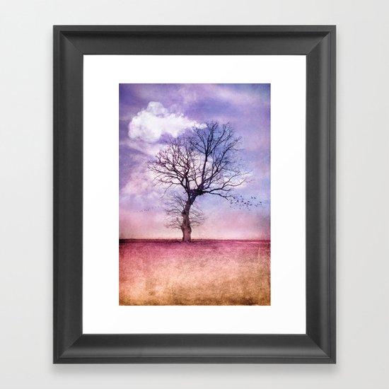ATMOSPHERIC TREE | Early Spring Framed Art Print