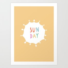 Sunday in Yellow Art Print