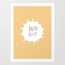 Sunday in Yellow Art Print