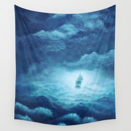 Cloudy Seas Wall Tapestry