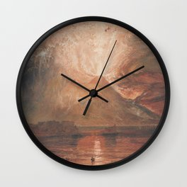 Eruption of Vesuvius J. M. W. Turner Wall Clock