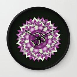 Crown Chakra on black Wall Clock