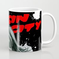 sin city Mugs featuring Sin city girl by calibos
