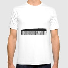 Comb Mens Fitted Tee White MEDIUM