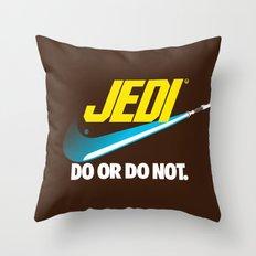 Brand Wars: Jedi - blue lightsaber Throw Pillow
