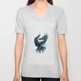 Forest Falcon Unisex V-Neck