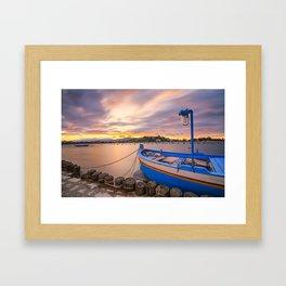Long exposure lakescape Framed Art Print
