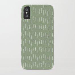 Raindrop Boho Abstract Pattern, Sage Green iPhone Case
